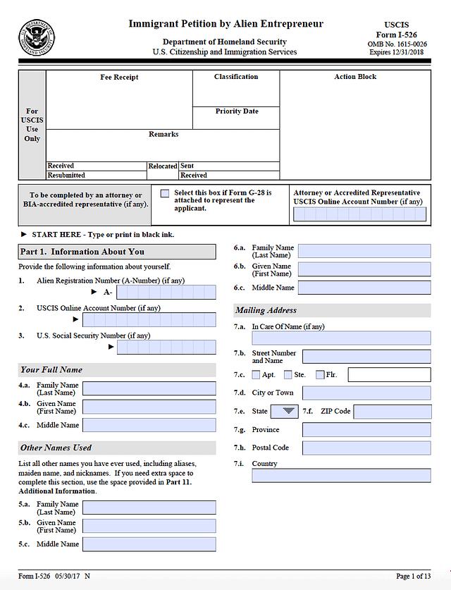 I-526-PETITION-EB5-VISA