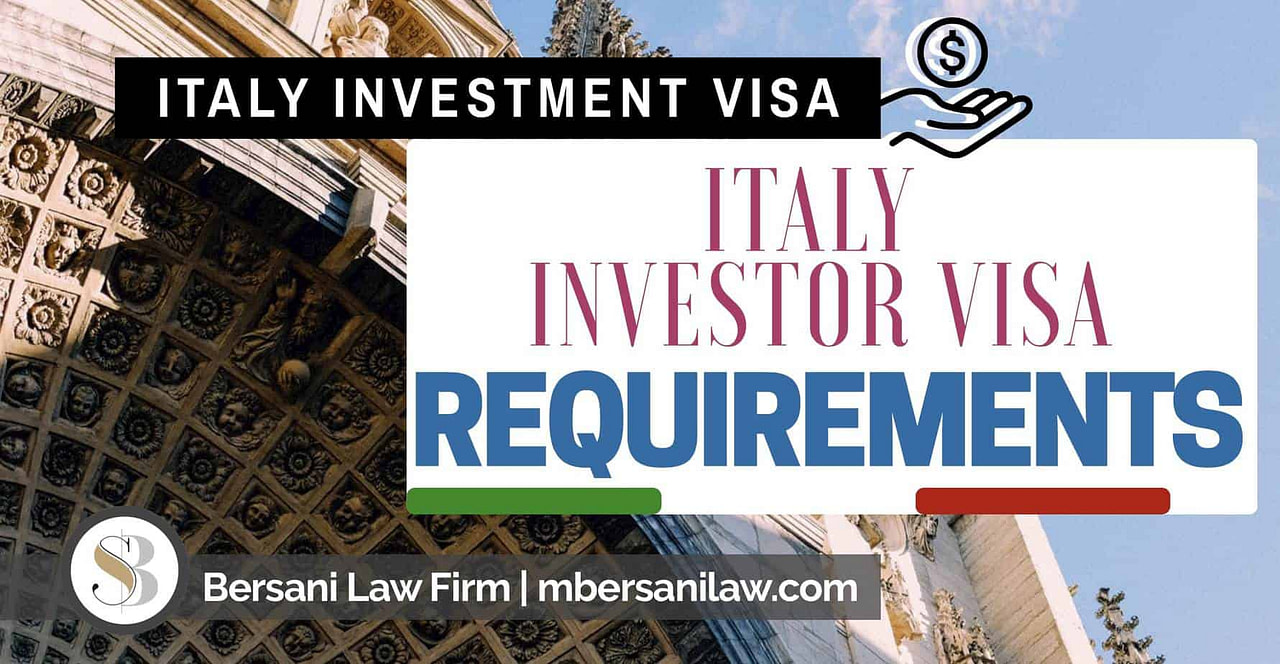 Italy-Investor-Visa-Requirements